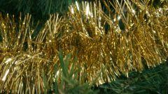 Как украсить елку мишурой