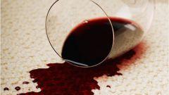 Как отмыть красное вино