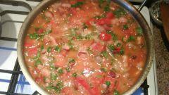 Как готовить фасоль с мясом в томате