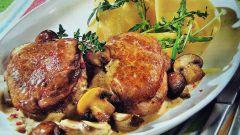 Как приготовить мясо с шампиньонами