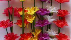 Как сделать стебель к цветку