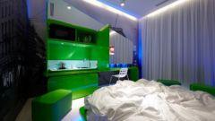 Как совместить спальню с кухней