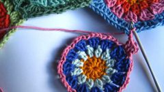 How to join a crochet round motifs