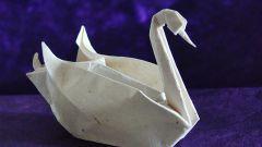 Как собрать оригами лебедь
