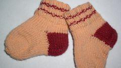Как вязать носочки спицами