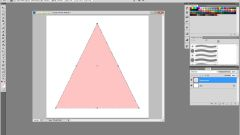 How to draw in photoshop triangle