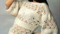 Как связать модное платье