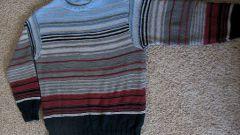 Как вытянуть свитер