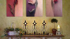 Как развесить картины на стене