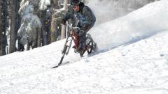 Как сделать из велосипеда снегоход