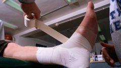 How to wrap bandage
