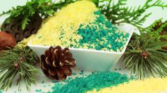 How to make a coniferous-salt bath