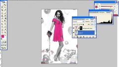 Как выделить цвет в Фотошопе на черно-белом