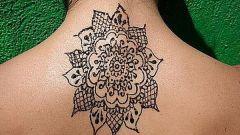Как сделать временную татуировку хной