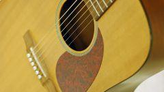 Как надеть струны на гитару