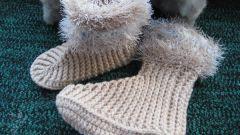 Как вязать детские носки крючком