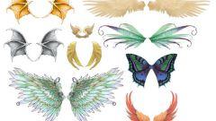 Как нарисовать крылья карандашом