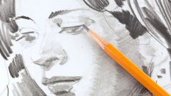 How to gradually draw a portrait in pencil