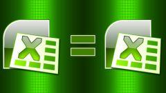Как в Excel сравнить данные