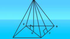Как вычислить площади граней пирамиды