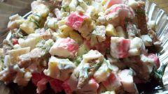 Как готовить салаты с крабовыми палочками