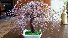 Как оформить дерево  из бисера