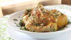 Как приготовить курицу с овощами в сметане