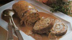 Как сделать рулет из свинины с овощами