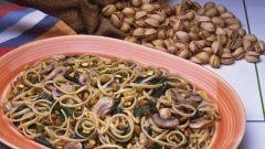 Как приготовить пасту с грибами, базиликом и фисташками