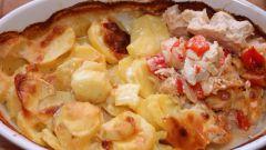 Как приготовить картофель с томатами и базиликом