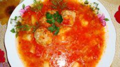 Как приготовить борщ сибирский с фрикадельками
