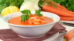 Как сделать морковный суп-пюре с кориандром