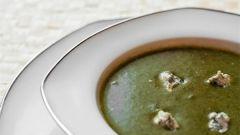 Как приготовить суп-пюре из шпината