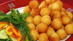 Как приготовить картофельные шарики с мясом -