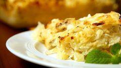 Как приготовить картофельную запеканку с грибами и чесноком