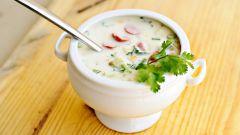 Как сделать овощную окрошку с йогуртом