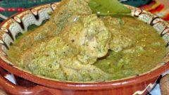 Как приготовить курицу заварную с ореховой подливкой