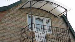Как сделать навес на балконе