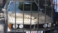 Зачем автомобиль посадили в клетку в зоопарке