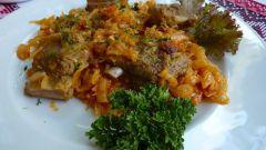 Как приготовить свиные ребрышки с капустой