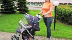 How to put a rain cover on the stroller