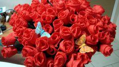 Как делать розы из салфеток