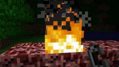 Как добыть огонь в Minecraft