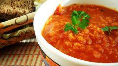 Как приготовить чечевичный суп с томатами