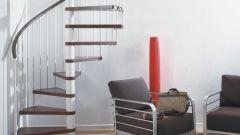 Особенности конструкции винтовой лестницы