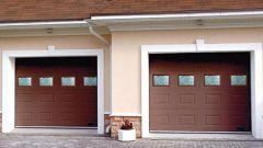 Подъемные секционные гаражные ворота