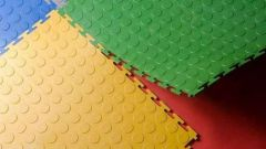 Напольная модульная плитка ПВХ