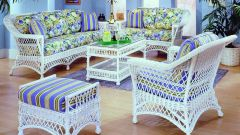 Используем в интерьере плетеную мебель