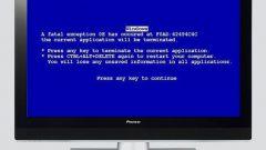 Почему появляется синий экран