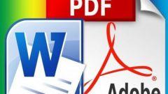Как конвертировать из pdf в doc